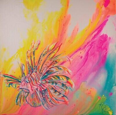 Technicolor Lionfish print