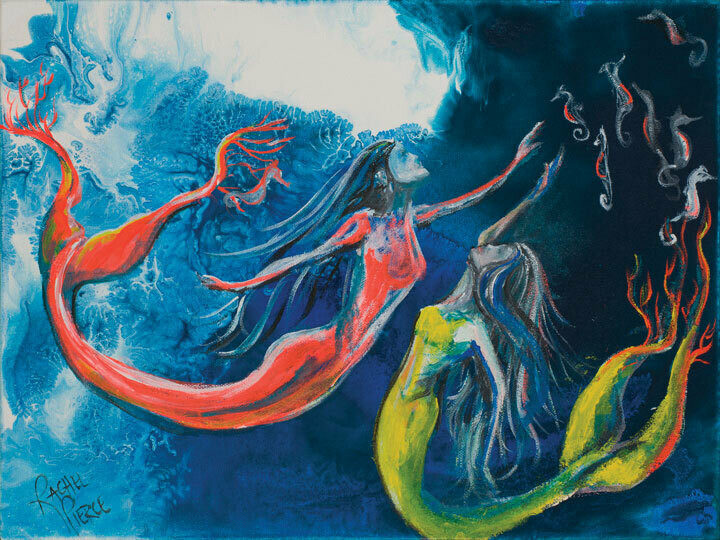 Coral Tailed Mermaids