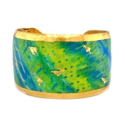 Mahi Mahi Abstract Cuff in Yellow Gold