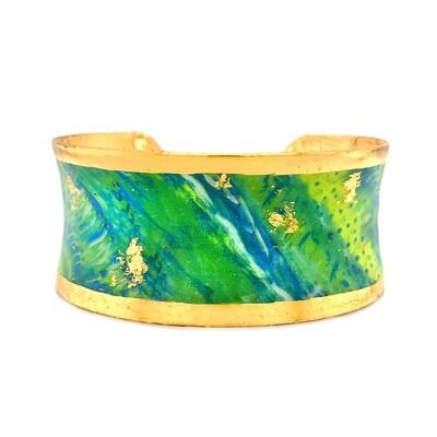 Mahi Mahi Abstract Corset Cuff in Yellow Gold