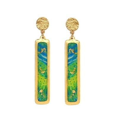 Mahi Mahi Abstract Column Earrings