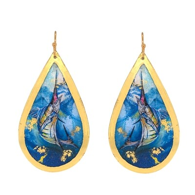 Marlin Teardrop Earrings