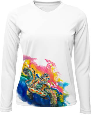 Electric Space turtle Long Sleeved Sun Shirt