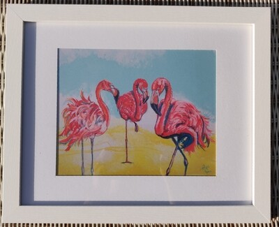 Bright Day Flamingo Framed Print
