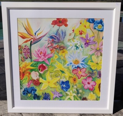 Florida Flowers Framed Print