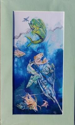 Fisherman's Dream Matted Print