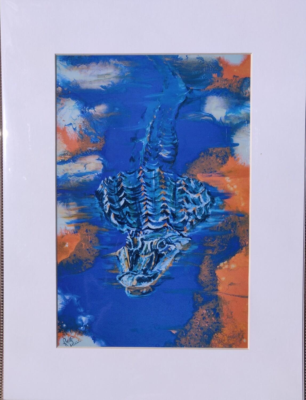 Florida Gator Matted Print