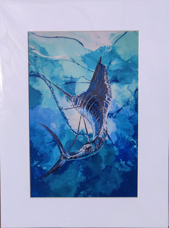 Sailing Away Matted Print