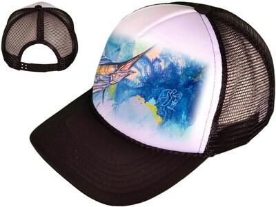 Men's Black Marlin Trucker Hat