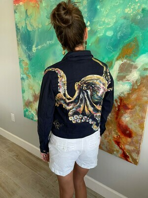 Hand painted Michael Kors Jean Jacket