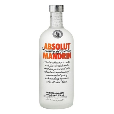 Vodka absolut mandarin x750cc