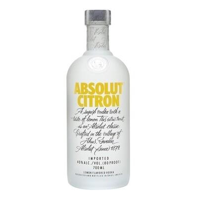 Vodka absolut citron x750cc