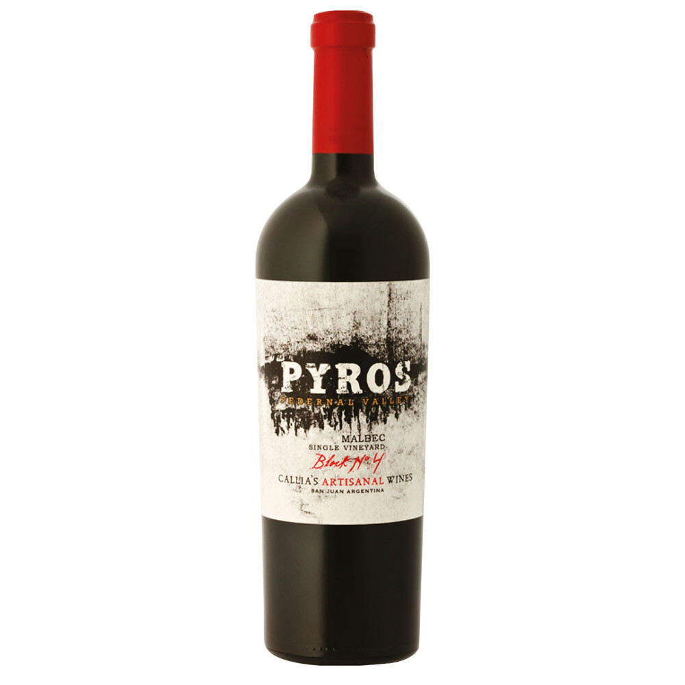 Vino Tinto Pyros single vineyard malbec x750cc