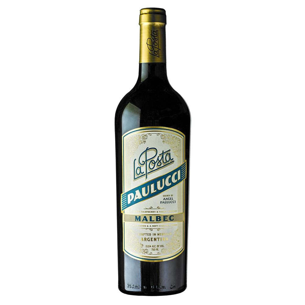 Vino Tinto La posta vineyard malbec-paulucci x750cc