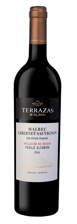 Vino Tinto Terrazas apelacion paraje altamira malbec-cabernet sauvignon x750cc