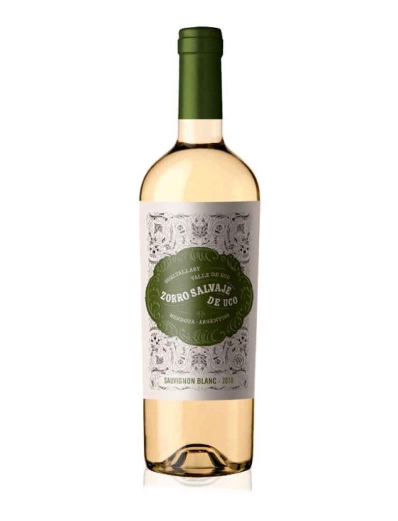 Vino Blanco Zorro salvaje sauvignon blanc x750cc