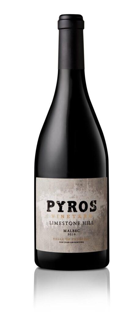 Vino Tinto Pyros limestone hill malbec x750cc