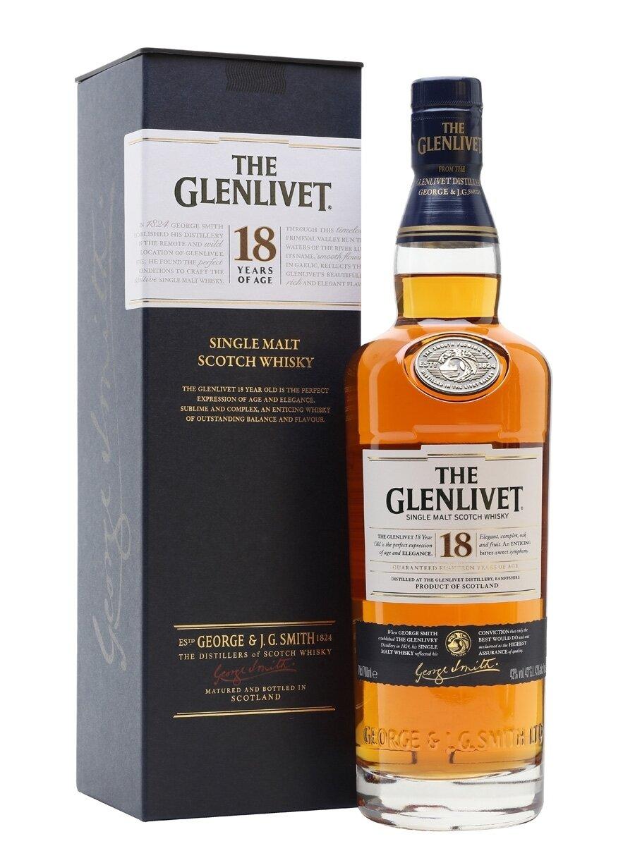 Whisky The glenlivet 18 a x700cc