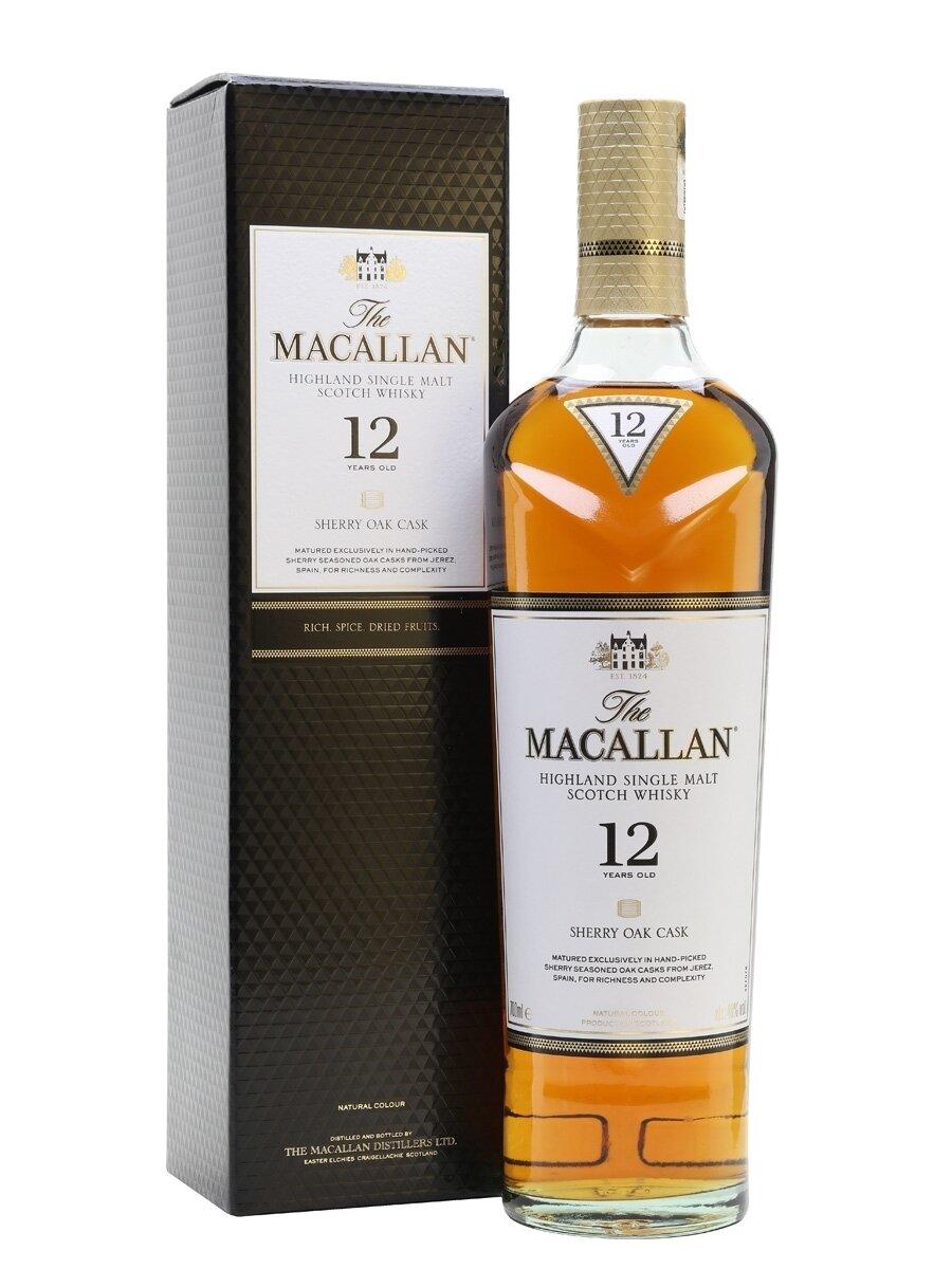 Whisky Macallan sherry oak 12 yo x700cc