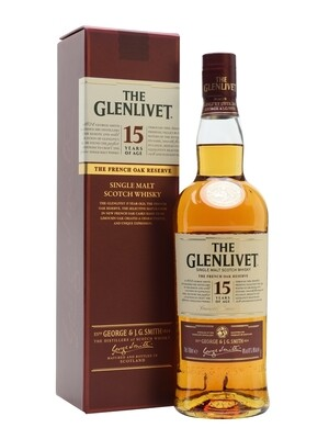 Whisky The glenlivet 15 a x700cc