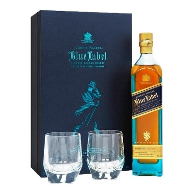 Whisky Johnnie walker blue x750+2 vasos