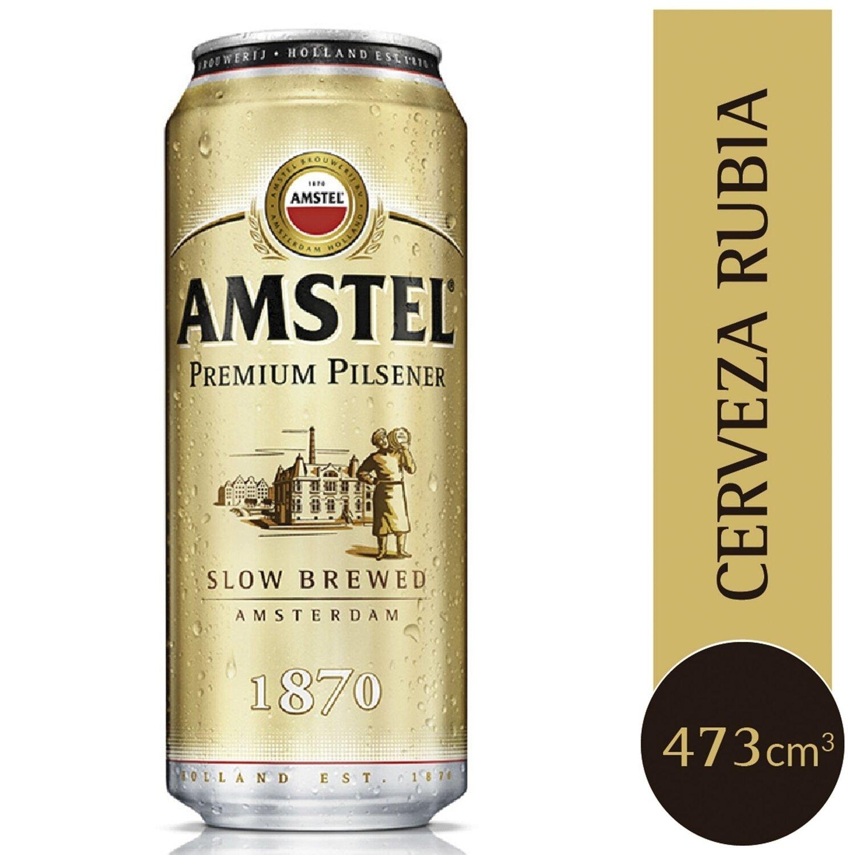 Cerveza Amstel Rubia Lata  x473cc