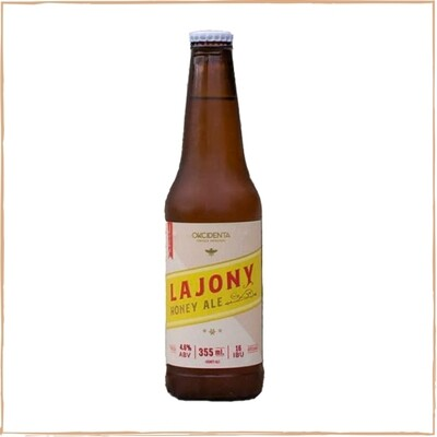 Cerveza Okcidenta Lajony Honey Ale x355ml