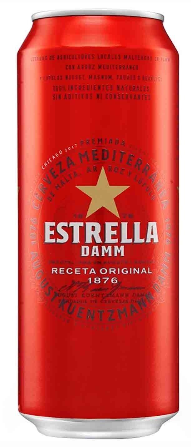 Cerveza Estrella Damm Lata x500cc