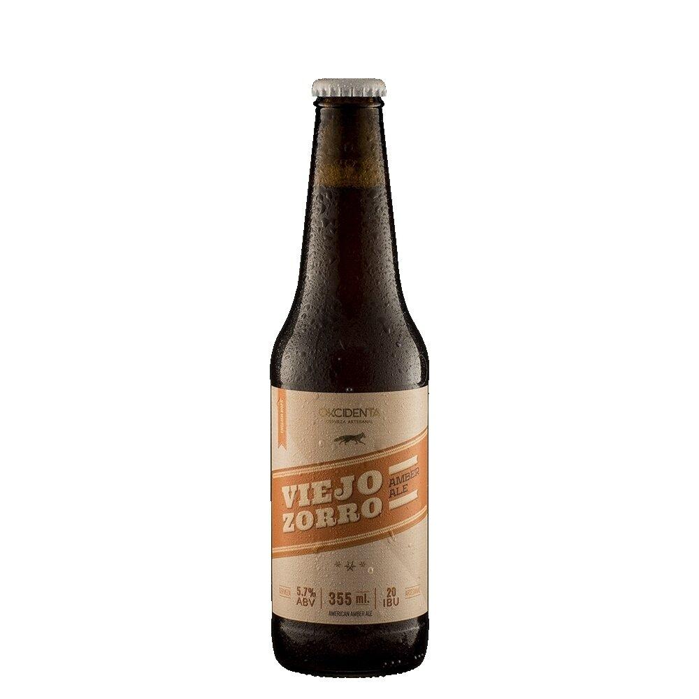Cerveza Okcidenta Viejo Zorro Amber Ale x355ml
