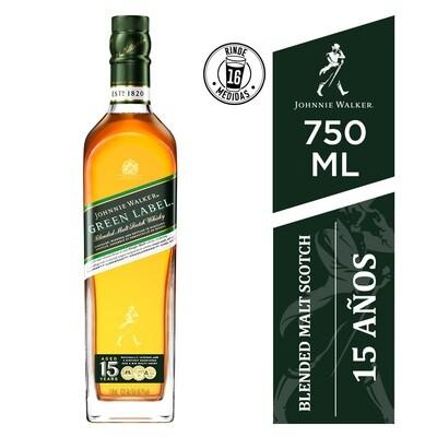Whisky Johnnie walker green (15 a) x750cc