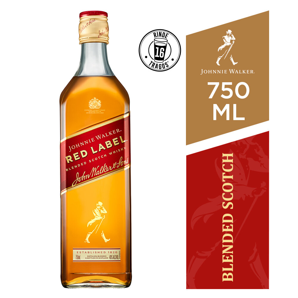 Whisky Johnnie walker red label x750cc