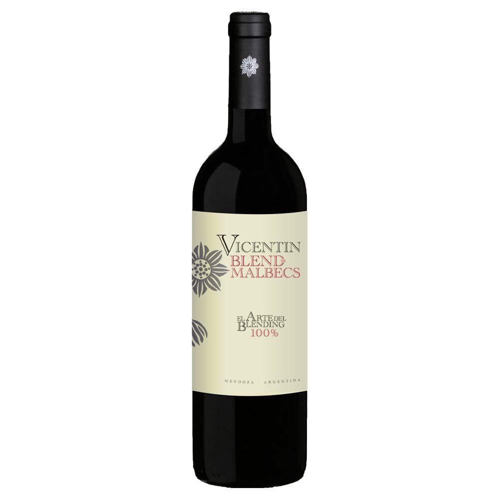 Vino Tinto Vicentin blend de malbec x750cc