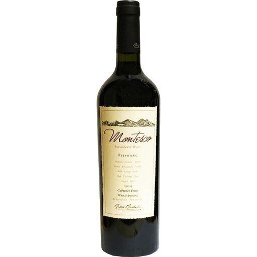 Vino Tinto Montesco cabernet franc x750cc