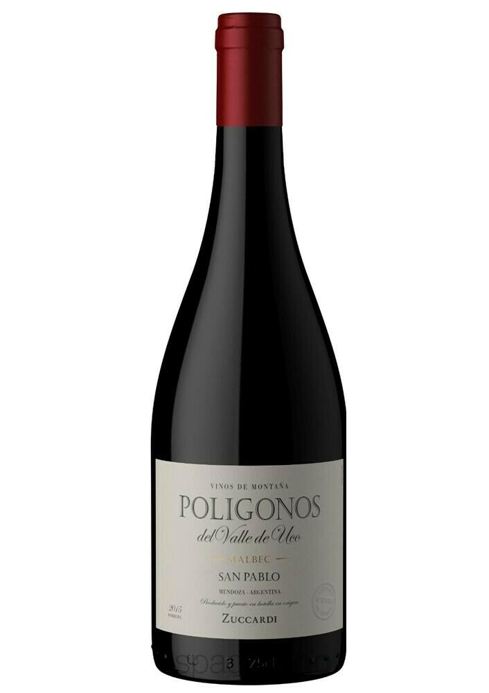 Vino Tinto Zuccardi poligonos malbec san pablo x750cc