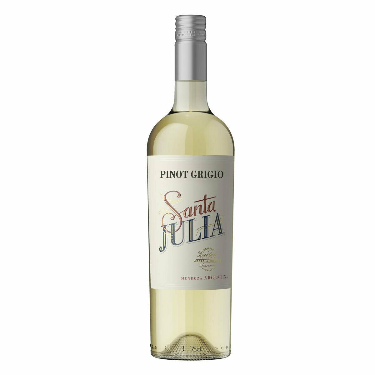 Vino Blanco Santa julia pinot grigio x750cc