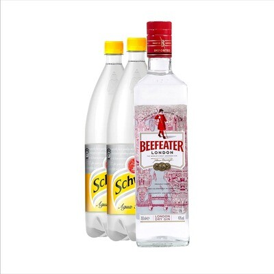 KIT GIN BEEFEATER LT+2 SCHWEPPES TONICA x1,5cc