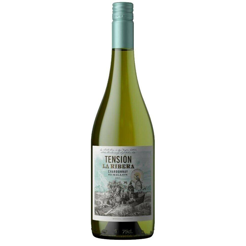 Vino Blanco Tension La Ribera Chardonnay x750cc