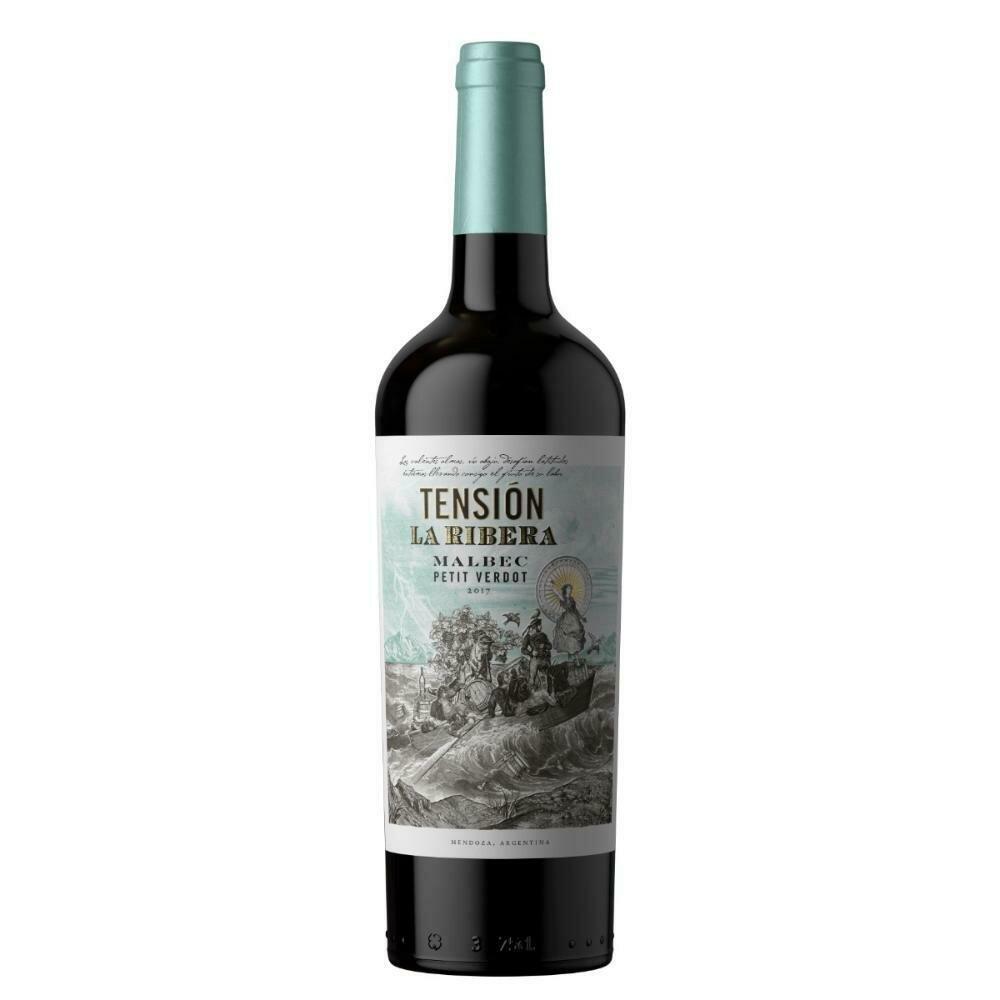 Vino Tinto Tension La Ribera Malbec- Petit Verdot x750cc
