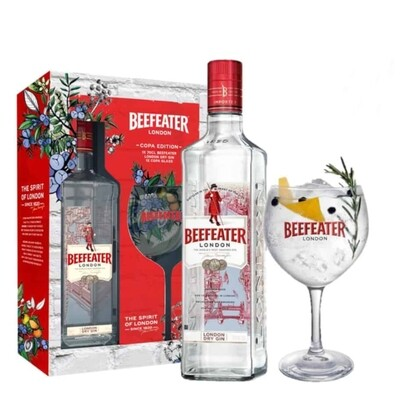 Estuche Gin Beefeater 700cc + Copa Beefeater