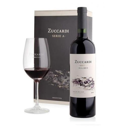 Estuche Zuccardi Serie A Malbec + Copa
