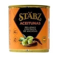 Aceitunas rell c/anchoa stabz x200grs
