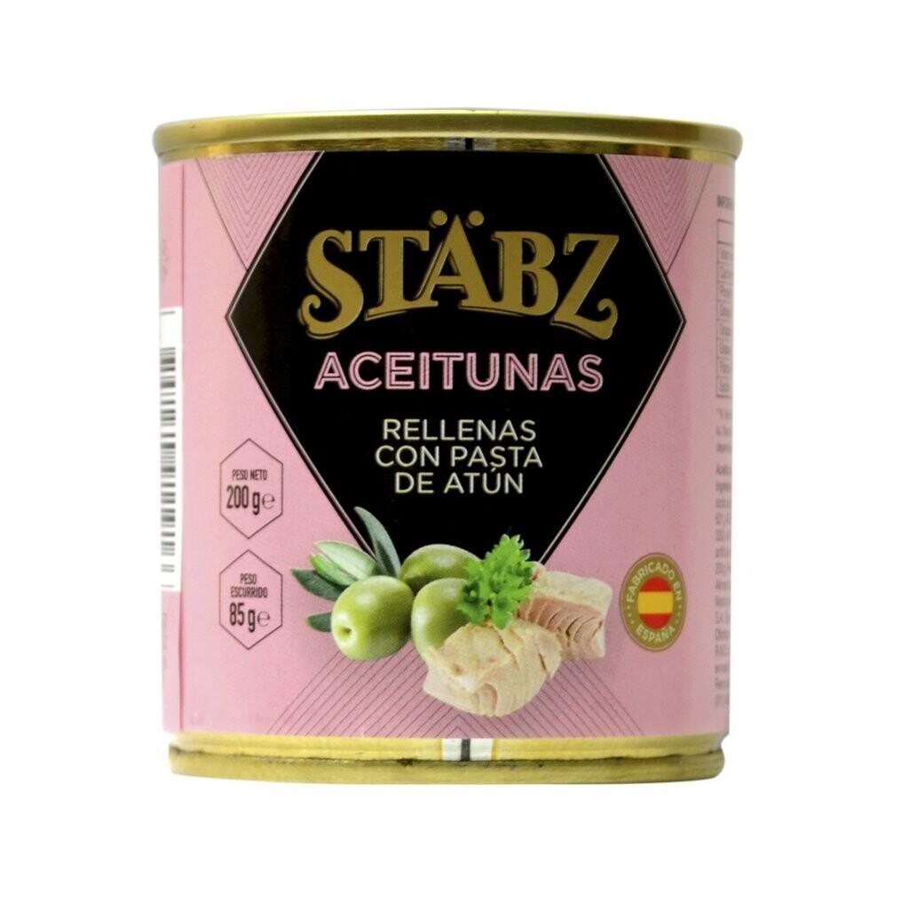 Aceitunas rellenas c/atun stabz x200grs