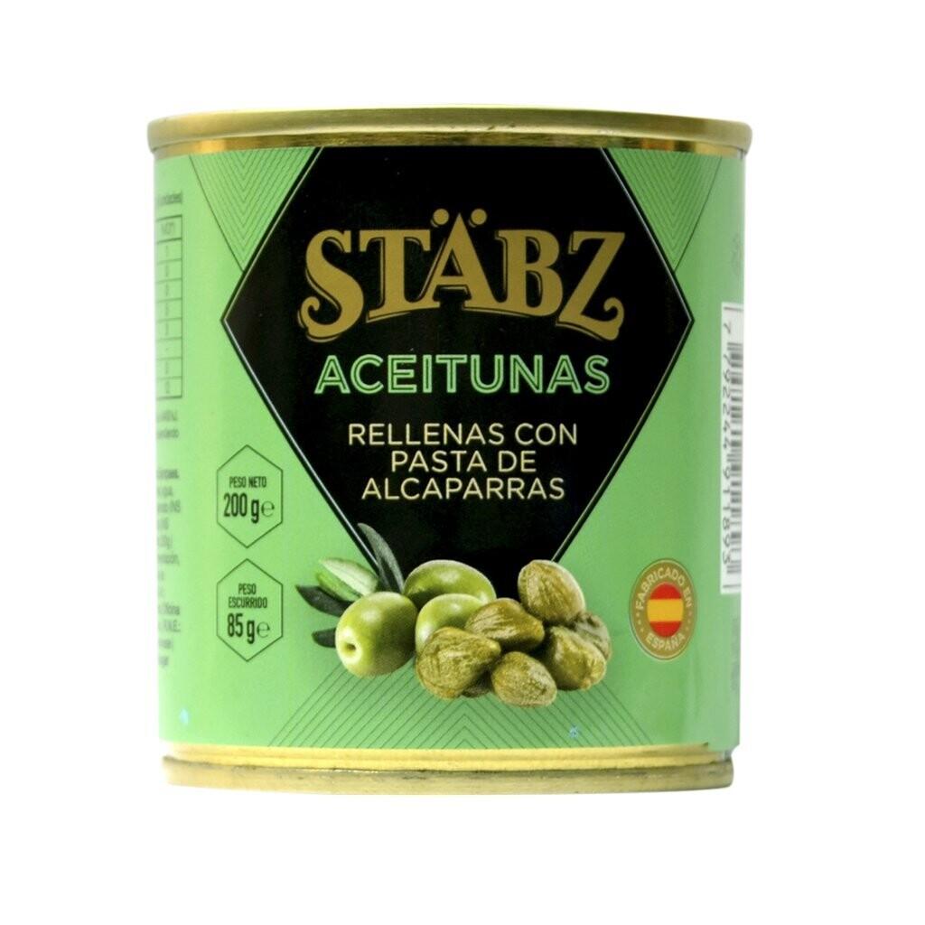 Aceitunas rellenas c/alcaparras stabz x200grs