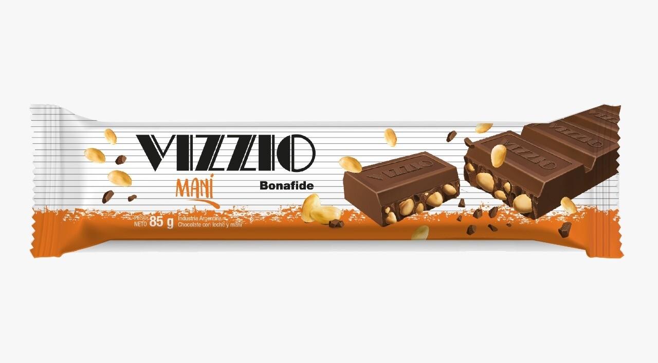 Chocolate Vizzio con leche y maní