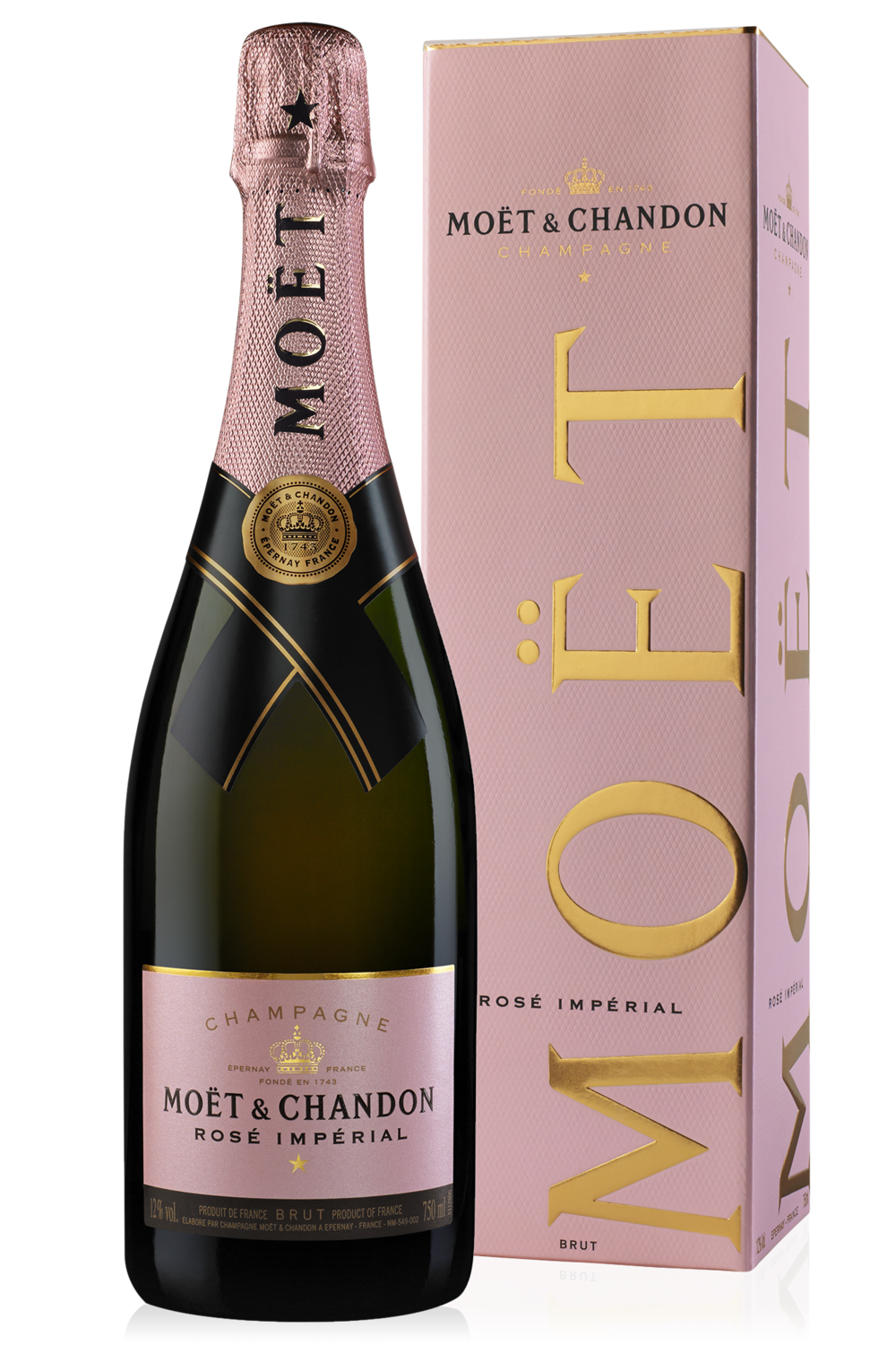 Champagne Moet rose imperial x750cc