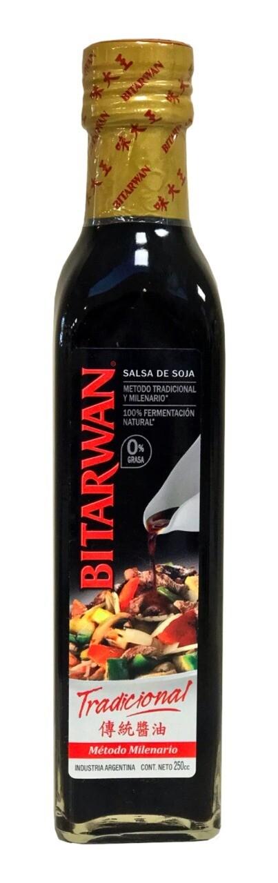 Salsa soja tradicional bitarwan vidrio x250cc