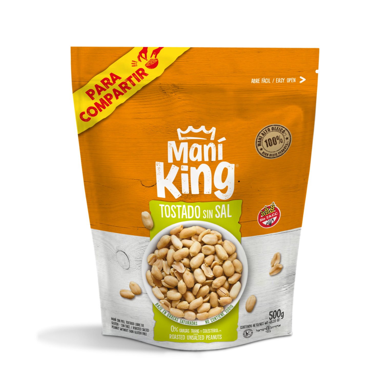 Mani king tostado x500grs