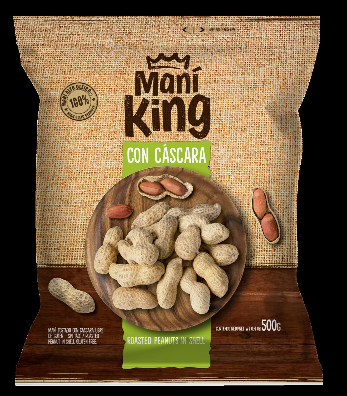 Mani king tostado c/cascara x500grs