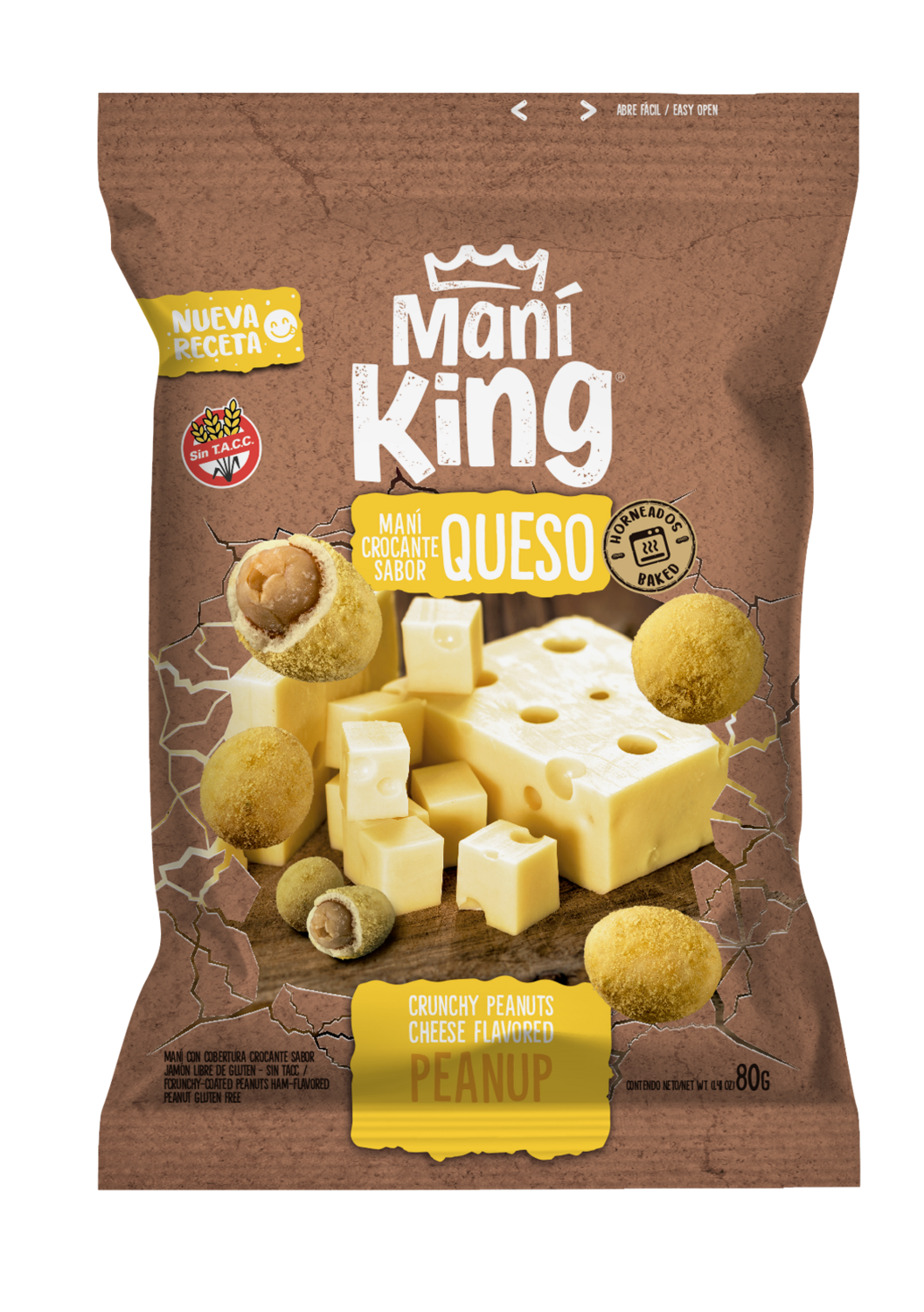 Mani king japones sabor queso x80grs