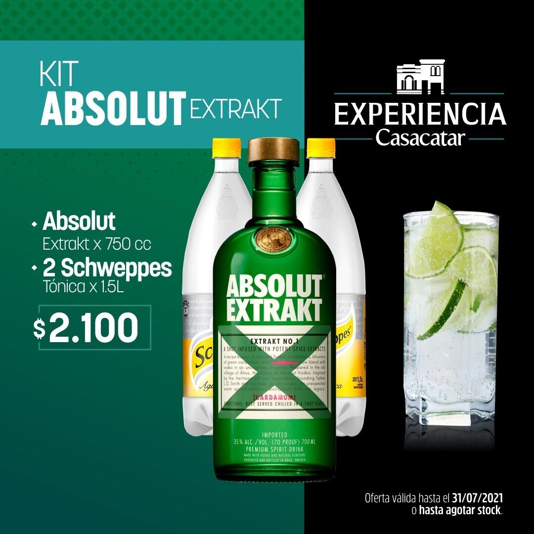 KIT ABSOLUT EXTRAKT x750cc+ 2 TONICAS x1,5lt